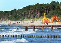 Dźwirzyno k/Kołobrzegu - plaża w Dźwirzynie